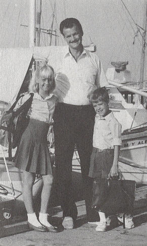 Jerry with Charity and Joel near the Gospel Ship in an Egyptian port