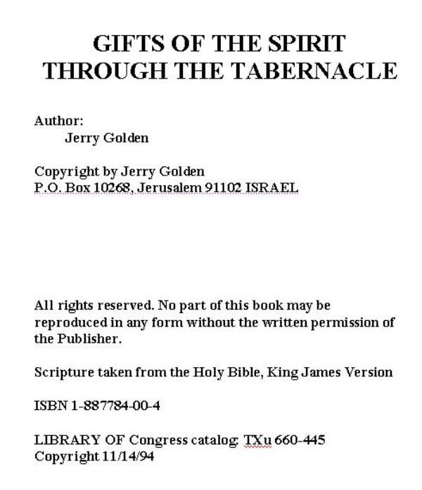 Gifts of the spirit thru the tabernacle the golden report jgbook1a negle Images