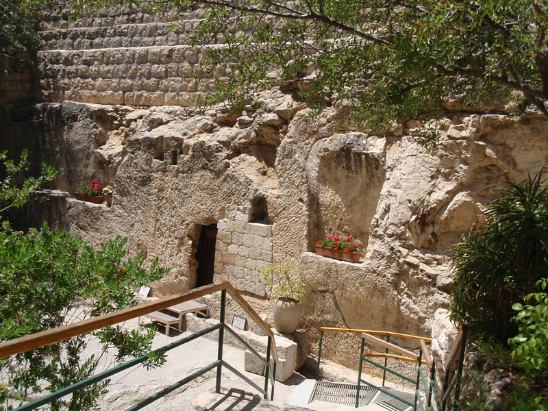 The Garden Tomb is a rock-cut tomb in Jerusalem, which was unearthed in 1867 and is considered by some Christians to be the site of the burial and resurrection of Jesus.